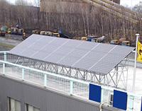 北海道室蘭市 産業用ソーラー発電 製鉄所構内